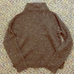 Madewell grey mock neck sweater